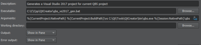 Generate Visual Studio project for a QBS project in Qt