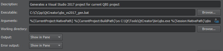 Generate Visual Studio project for a QBS project in Qt Creator